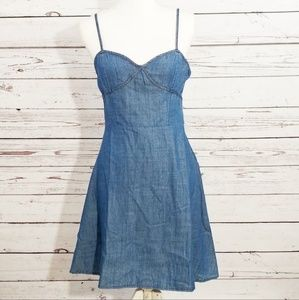 5 for $25 Ethereal Paper Crane denim dress NWT